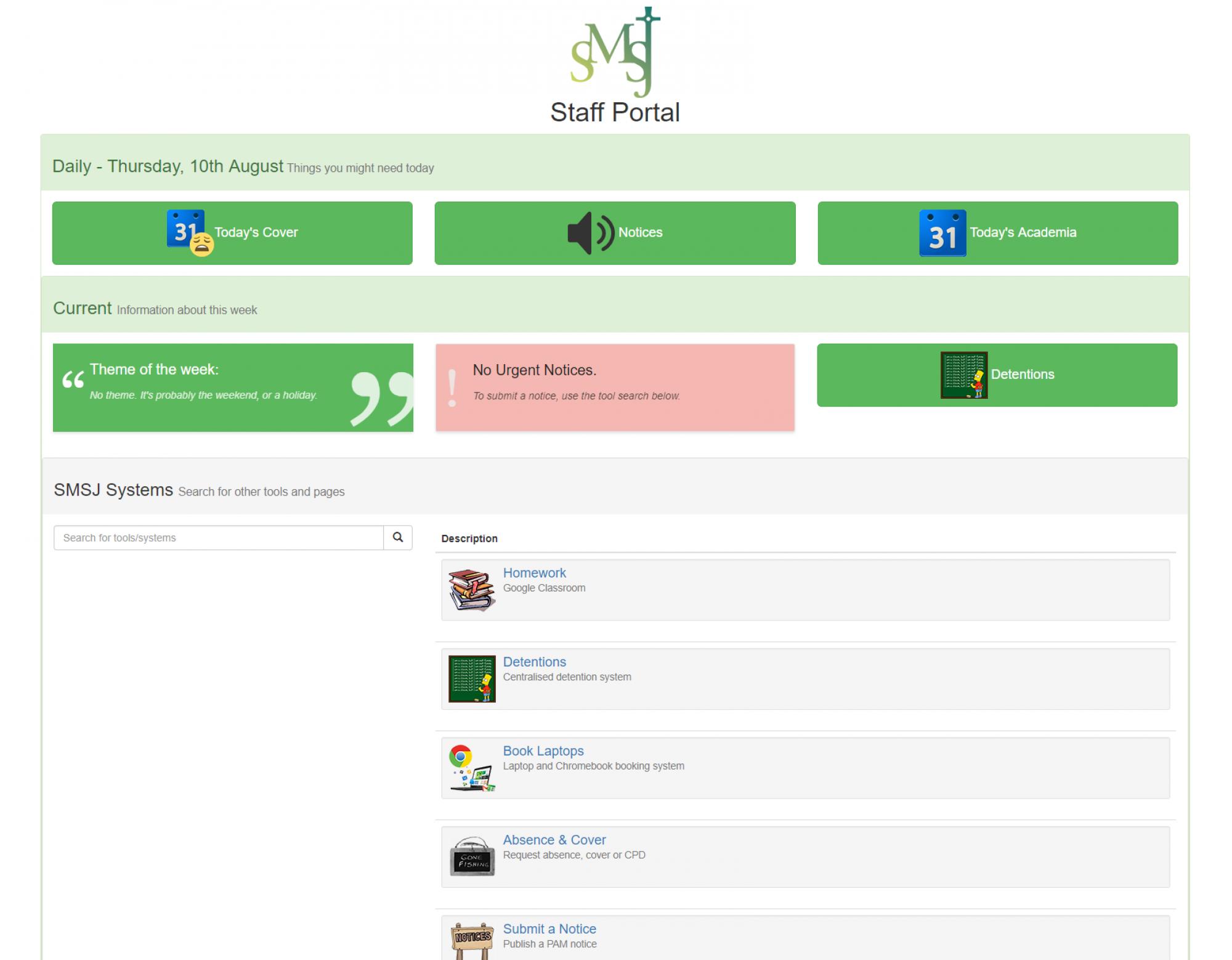 A School Portal/VLE Project